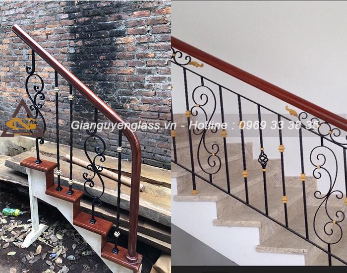 Mẫu cầu thang sắt nghệ thuật S Dọ