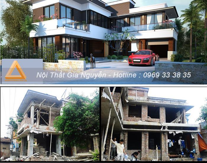 Công trình nhà ở hiện đại đã thi công tại Hưng Yên