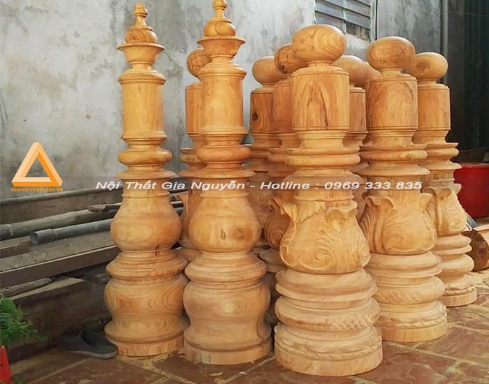 Những mẫu trụ gỗ cầu thang đẹp