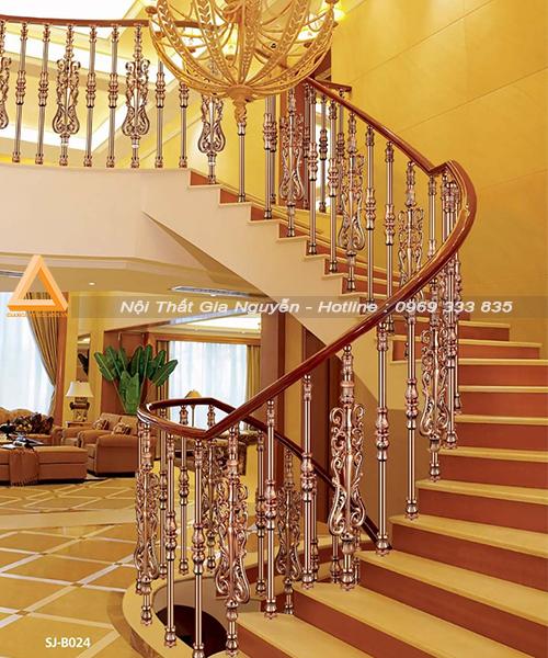 Những mẫu cầu thang nhôm đúc đẹp