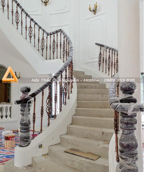 Mẫu cầu thang nhôm đúc đẹp