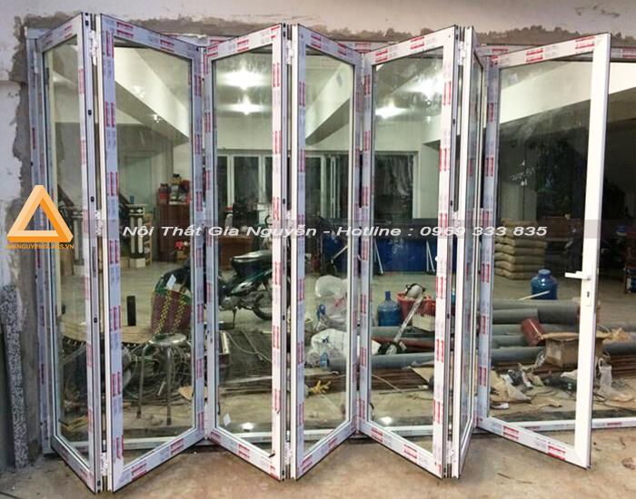 Mẫu cửa nhôm Xingfa màu trắng sứ đẹp cao cấp
