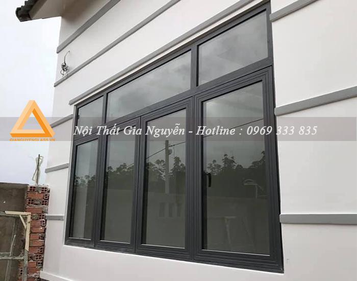 Cửa sổ mở trượt nhôm Xingfa cao cấp màu đen
