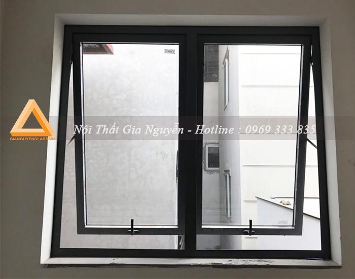 Cửa sổ mở hất nhôm Xingfa cao cấp màu đen