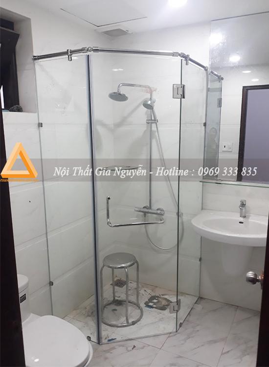 Thi công vách kính phòng tắm tại khu liền kề Phố Cúc Ecopark