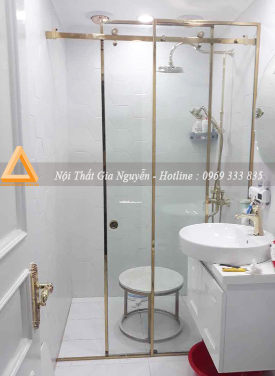 Thi công vách kính phòng tắm tại khu biệt thự Vườn Tùng Ecopark